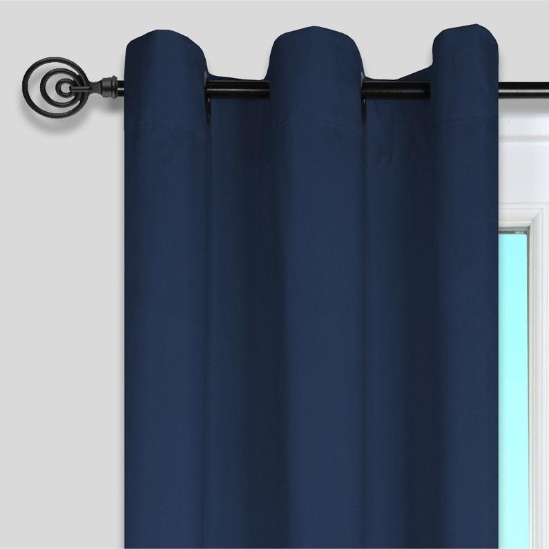 Rideau Tamisant Nelson Bleu Pétrole L135 X H240 Cm