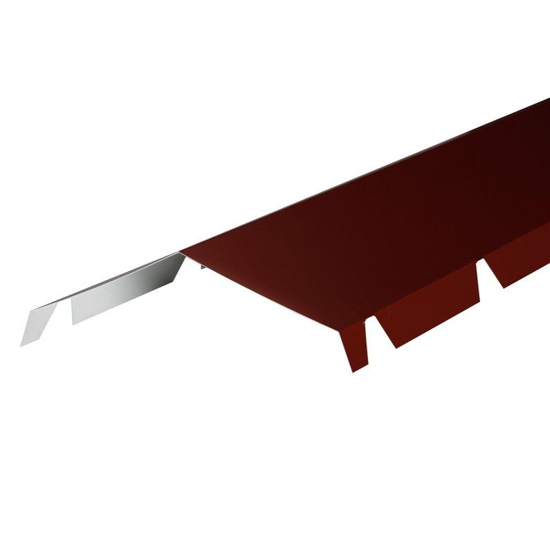 Faîtière Crantée Pour Plaque Nervurée 63100 Rouge Ral 8012 L21 M