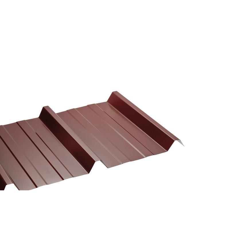 Plaque de toiture nervurée acier galvanisé rouge l.1.05 x L.2.5 m, SEDPA | Leroy Merlin