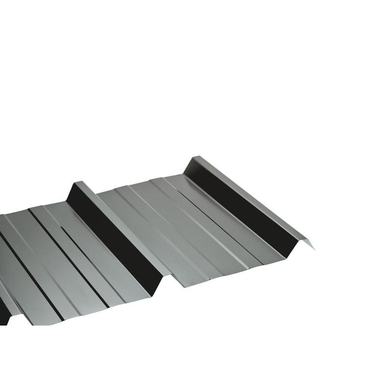 Plaque De Toiture Nervurée Acier Galvanisé Gris L105 X L25 M Sedpa