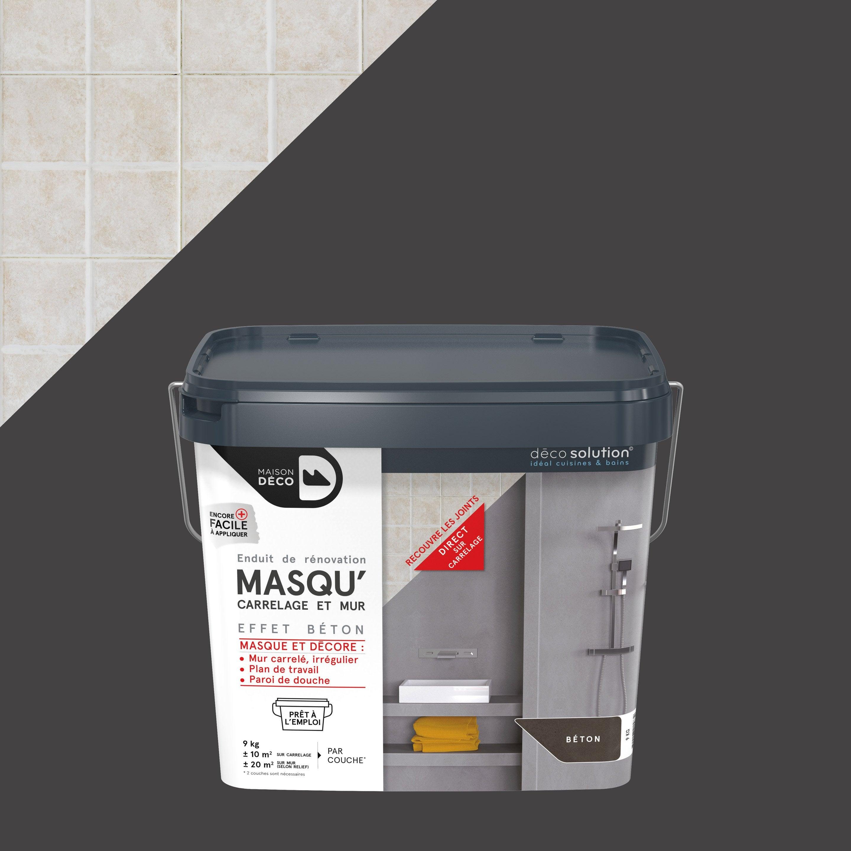 Recouvrir Carrelage En Relief enduit masqu'carrelage et mur maison deco, béton, 9 kg