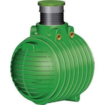 Cuve de récupération d'eau de pluie avec panier filtrant vert 1600 l GARANTIA