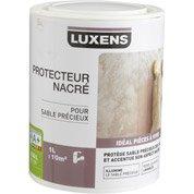 Peinture effet sable pr cieux luxens blanc lin 6 2 5 for Peinture sable precieux luxens