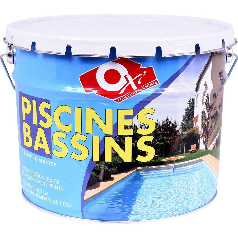 Peinture piscine et bassin ext rieur oxytol blanc 10 l for Peinture de piscine