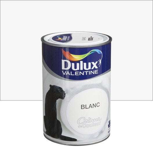 peinture multisupports cr me de couleur dulux valentine blanc l leroy merlin. Black Bedroom Furniture Sets. Home Design Ideas