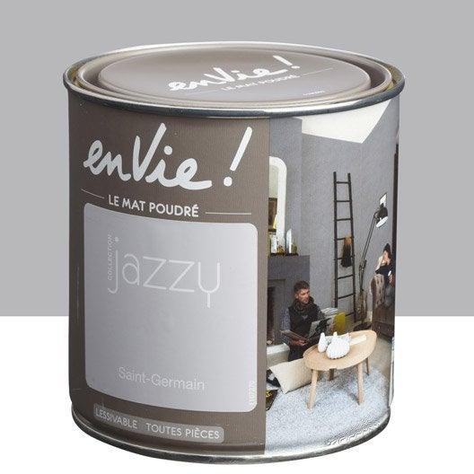 peinture gris saint germain luxens envie collection jazzy 0 5 l leroy merlin. Black Bedroom Furniture Sets. Home Design Ideas