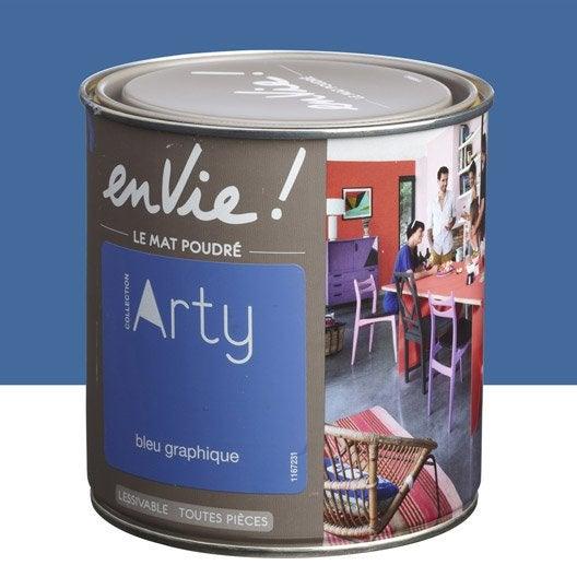 Peinture bleu graphique luxens envie collection arty 0 5 l for Peinture graphique