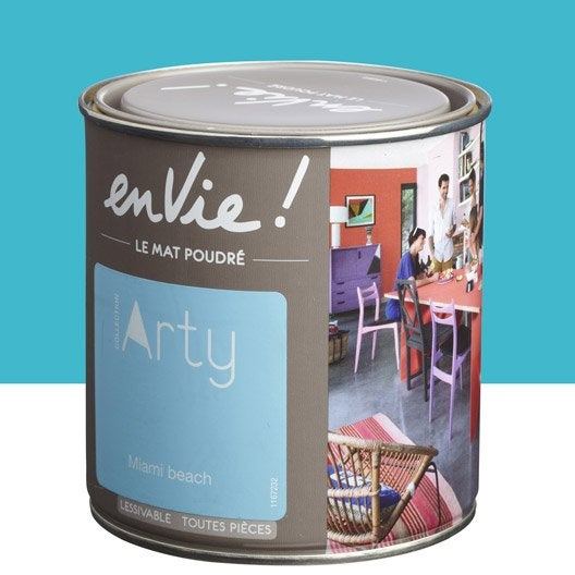 peinture bleu miami beach luxens envie collection arty 0 5 l leroy merlin. Black Bedroom Furniture Sets. Home Design Ideas