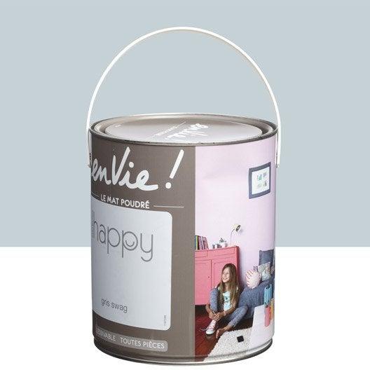 peinture gris swag luxens envie collection happy 2 5 l leroy merlin