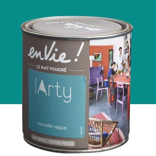 peinture vert nouvelle vague luxens envie collection arty 0 5 l leroy merlin. Black Bedroom Furniture Sets. Home Design Ideas
