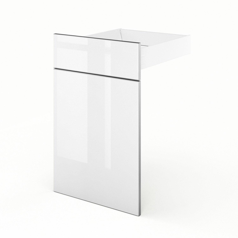 porte et tiroir de cuisine blanc everest x x cm leroy merlin. Black Bedroom Furniture Sets. Home Design Ideas