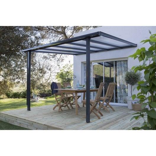 couverture de terrasse murale aluminium gris anthracite 9 m leroy merlin. Black Bedroom Furniture Sets. Home Design Ideas