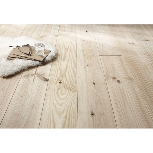 plancher pin noueux 200cm x 17cm 23mm leroy merlin. Black Bedroom Furniture Sets. Home Design Ideas
