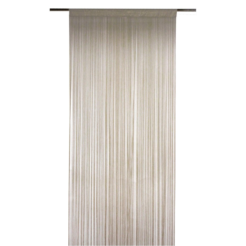 Rideau tamisant, Spaghetti, taupe, l.90 x H.250 cm INSPIRE | Leroy ...