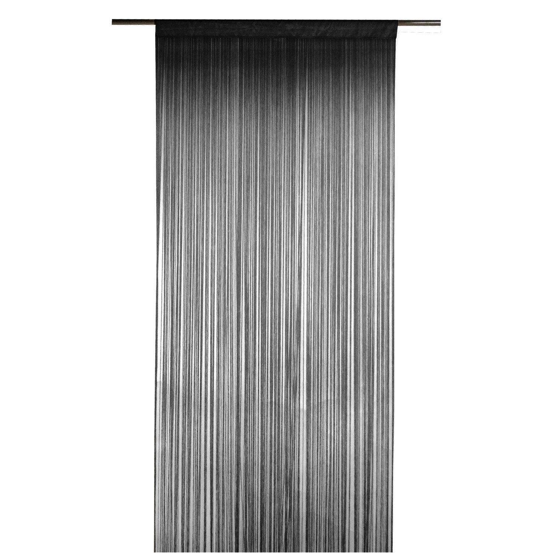 Rideau tamisant, Spaghetti, noir, l.90 x H.250 cm INSPIRE | Leroy Merlin