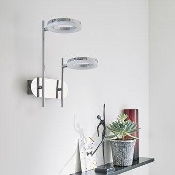 Applique, led intégrée Iring, 2 x 5 W, métal chromé, INSPIRE