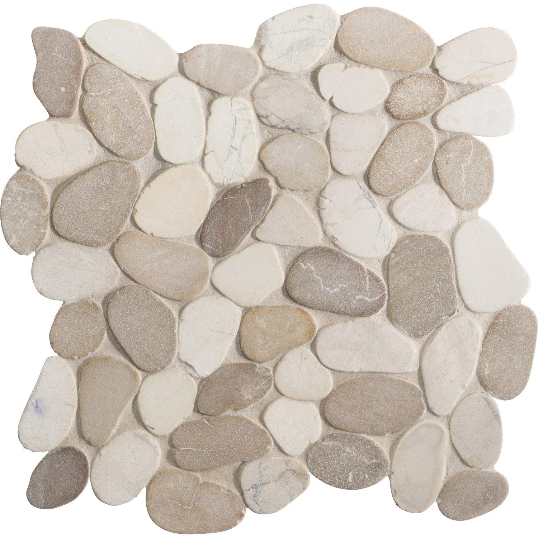 Salle De Bain Galet Blanc ~ galets sol et mur river mix blanc beige leroy merlin