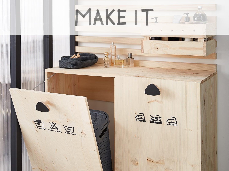 buanderie dans salle de bain finest salle de bains moderne intgrant un coin buanderie avec. Black Bedroom Furniture Sets. Home Design Ideas