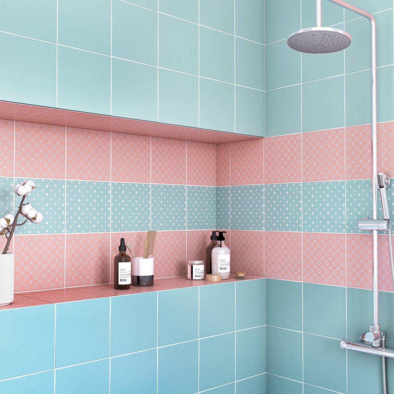 Carrelage mat rose bistrot salle de bain | Leroy Merlin