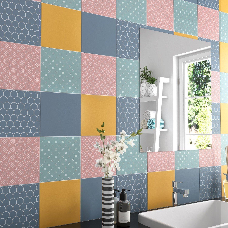 carrelage mat multi-color salle de bain | Leroy Merlin