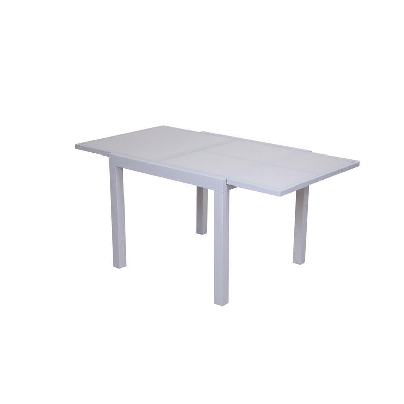 Table de jardin de repas NATERIAL carrée 4 à 8 personnes