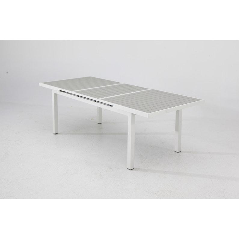 Table de jardin de repas NATERIAL Las vegas rectangulaire blanc 6/8  personnes
