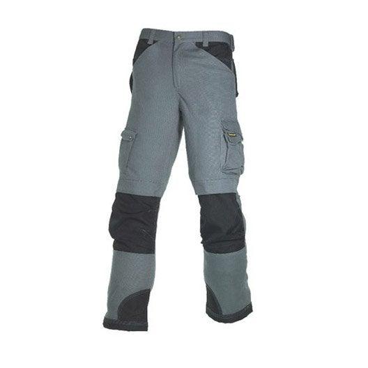 Pantalon de travail multipoche caterpillar gris noir - Vetement de travail leroy merlin ...