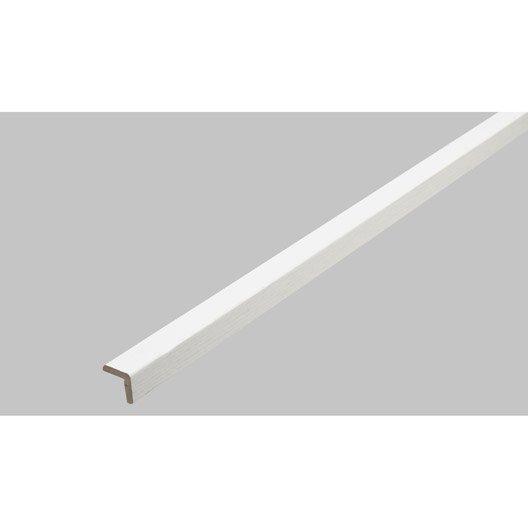 baguette d'angle médium (mdf) imitation frêne blanc, 27 x 27 mm, l