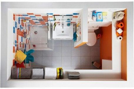 Une salle de bains dans moins de 4 m leroy merlin - Fenetre salle de bain leroy merlin ...