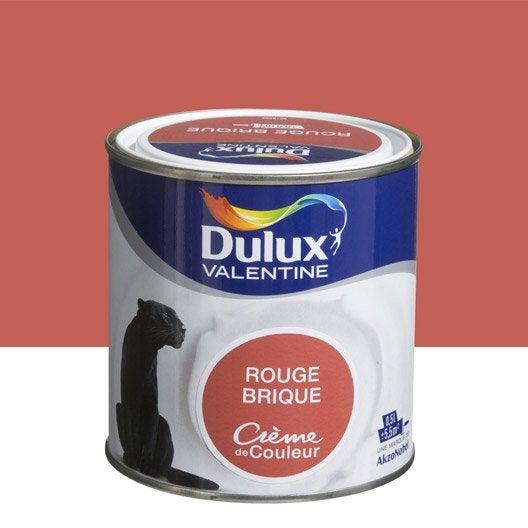 Peinture multisupports cr me de couleur dulux valentine rouge brique 0 5 l - Dulux valentine figue ...