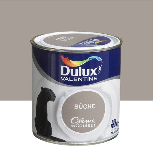 Peinture brun buche dulux valentine cr me de couleur 0 5 l - Peinture marron glace dulux valentine ...