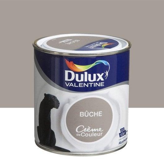 Peinture brun buche dulux valentine cr me de couleur 0 5 l leroy merlin - Peinture marron glace dulux valentine ...
