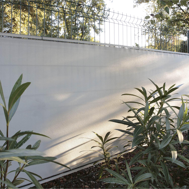 brise vue poly thyl ne gris gris n 5 cm x cm. Black Bedroom Furniture Sets. Home Design Ideas