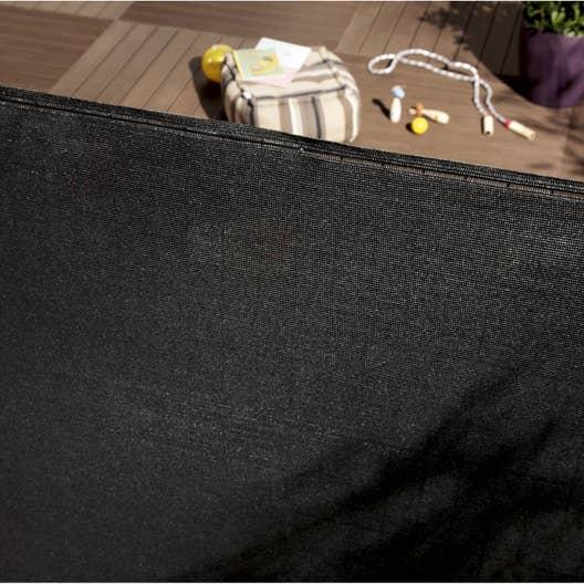 brise vue poly thyl ne noir noir n 0 cm x cm. Black Bedroom Furniture Sets. Home Design Ideas