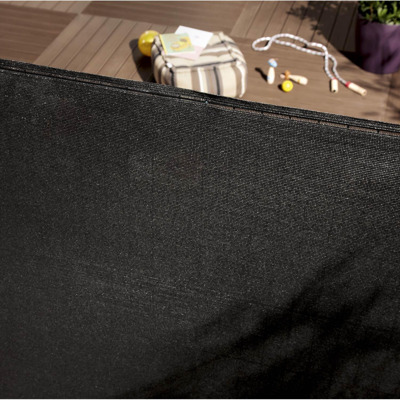 Brise-vue polyéthylène noir-noir n°0, H.100 cm x L.500 cm | Leroy Merlin