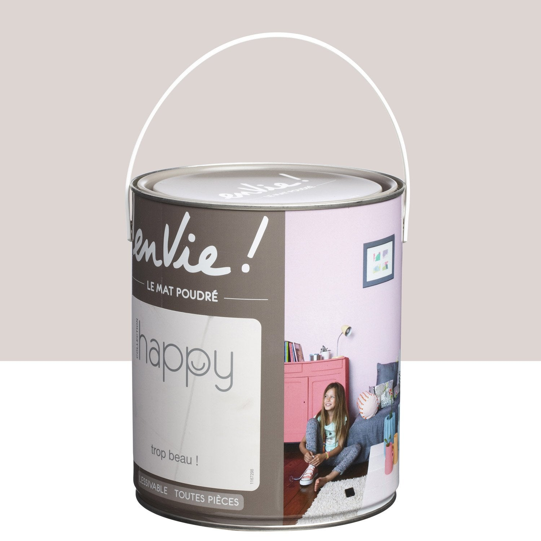 Peinture Gris Trop Beau Satin Luxens Envie Collection Happy 2 5 L