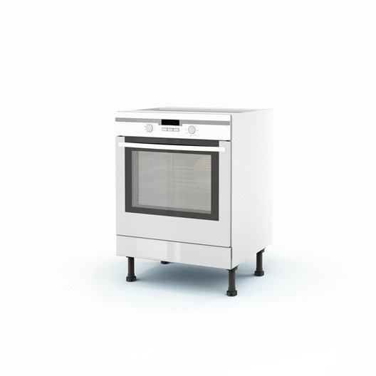 Meuble de cuisine bas blanc four everest x x p for Meuble cuisine bas blanc
