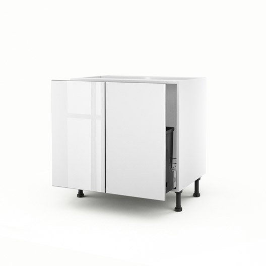 meuble de cuisine sous vier blanc 2 portes everest x x cm leroy merlin. Black Bedroom Furniture Sets. Home Design Ideas