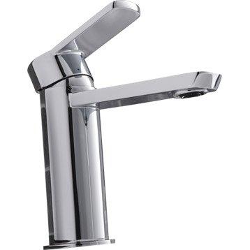 Mitigeur lavabo chromé, SENSEA Rondo