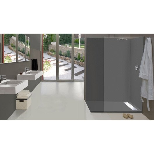 Panneaux muraux d coratifs et stickers douche leroy merlin - Panneau imitation carrelage salle de bain ...