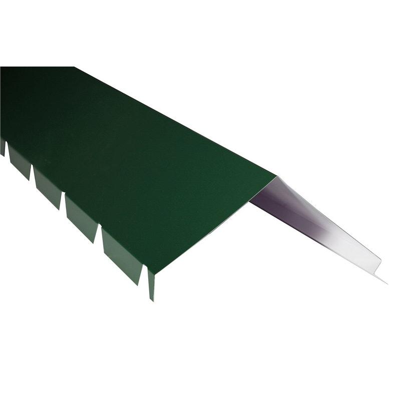 Faîtière Sur Mur Pour Plaque Nervurée 63100 Vert L21 M