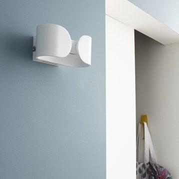 Applique design led intégrée Shaz métal Blanc, 2 INSPIRE