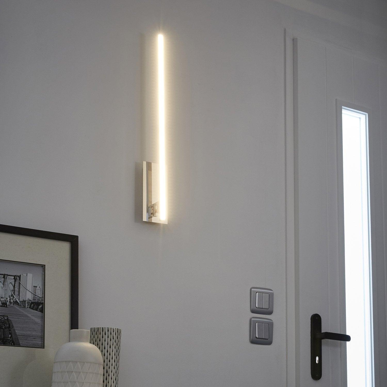 applique, design led intégrée bara métal chromé, 1 inspire | leroy