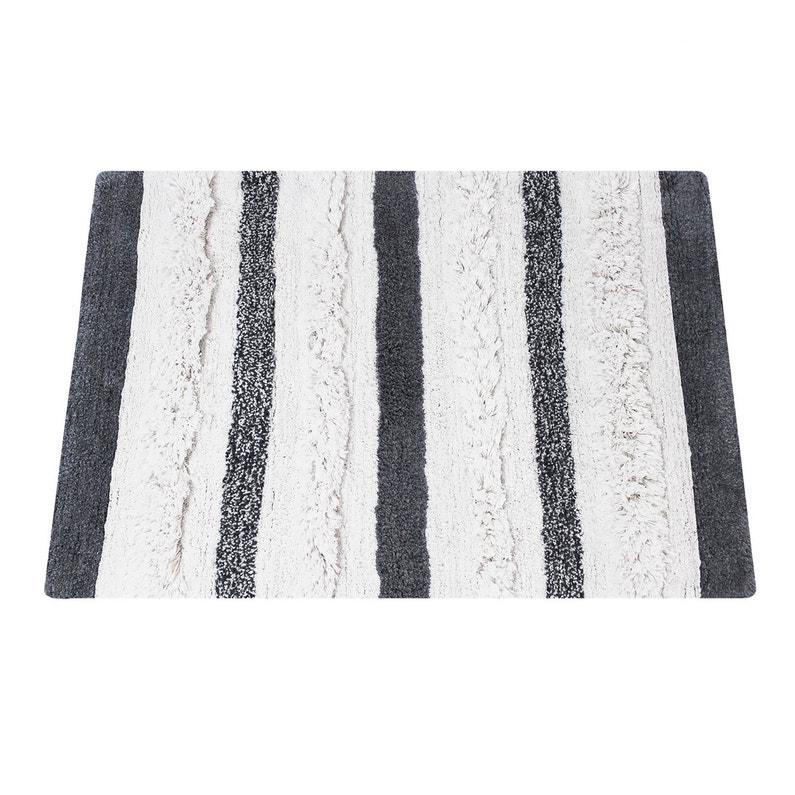 Tapis De Bain L 60 X L 90 Cm Noir Et Blanc Berbere Sensea