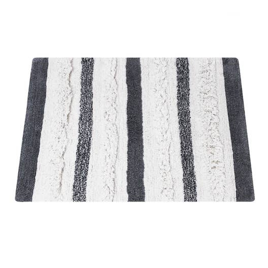 tapis de bain x cm noir et blanc berbere sensea leroy merlin. Black Bedroom Furniture Sets. Home Design Ideas