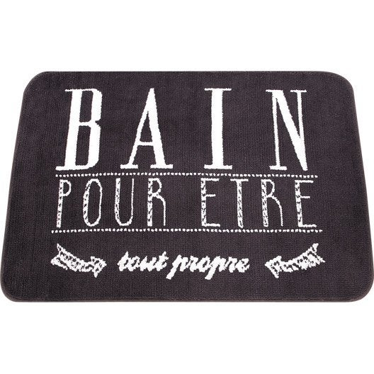 tapis de bains tapis de bain et caillebotis leroy merlin. Black Bedroom Furniture Sets. Home Design Ideas