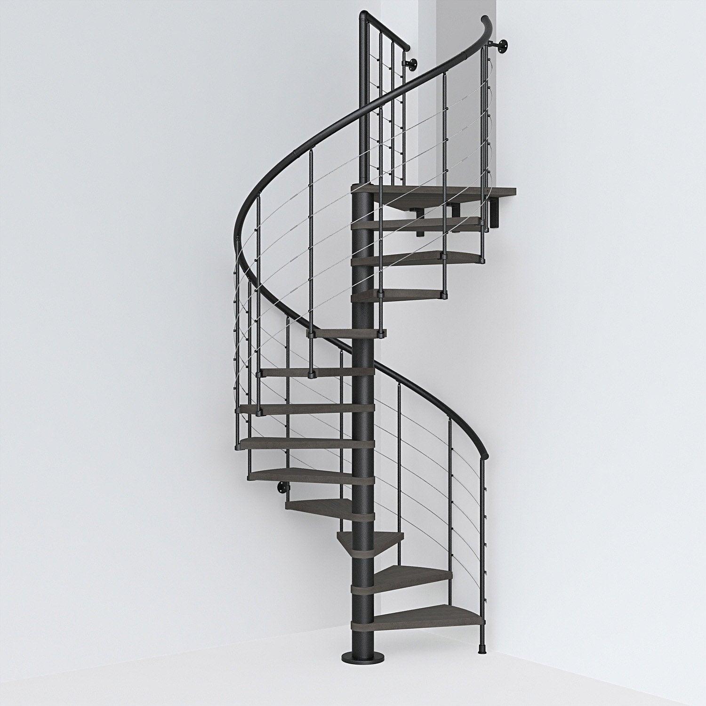 RéversAcier Colimaçon Foncé⌀158 Escalier Noir 12 Tube Cm MarOrme Rond Ring RLj54A3