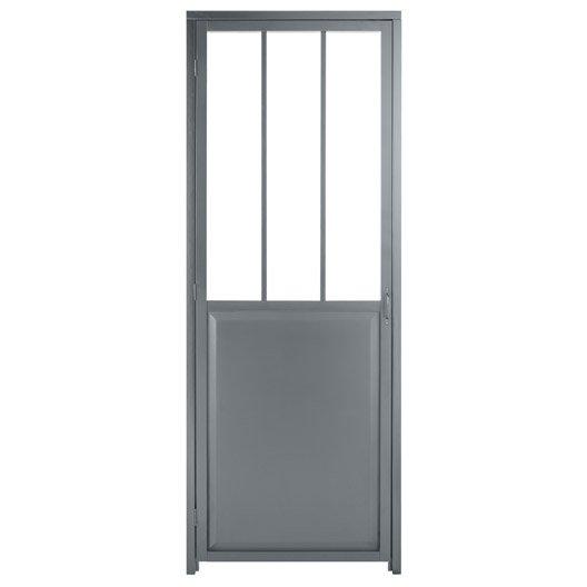 Bloc porte gris atelier verre clair artens x for Bloc porte verre