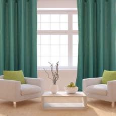 rideau tamisant sunny vert sauge x cm inspire leroy merlin. Black Bedroom Furniture Sets. Home Design Ideas