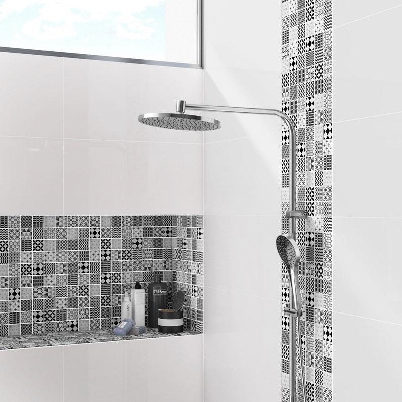mosa que mur shaker decor noir et blanc leroy merlin. Black Bedroom Furniture Sets. Home Design Ideas